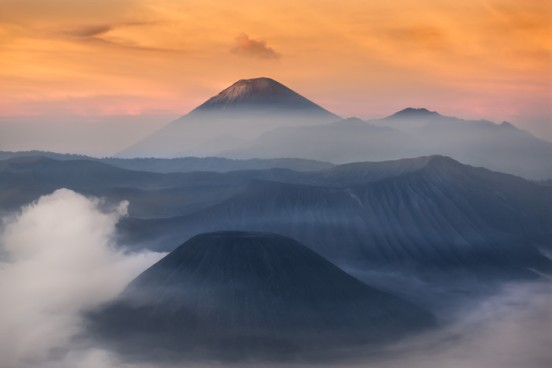 In Indonesia, one trip to the volcano photography